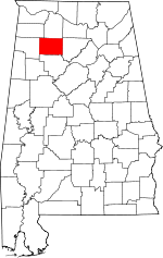 Map of Alabama highlighting Winston County.svg