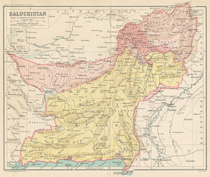 Khanate of Kalat - Map of the Baluchistan Agency.