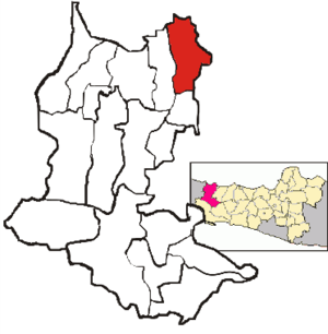 Brebes, Brebes - Image: Map of Brebes District, Brebes Regency