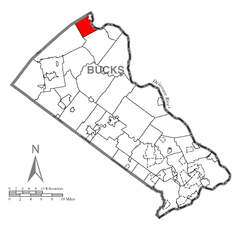 Map of Durham Township, Bucks County, Pennsylvania Highlighted.png