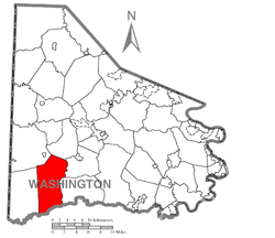 Location of East Finley Township in Washington County