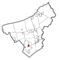 Map of Freemansburg, Northampton County, Pennsylvania Highlighted.png