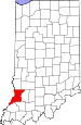 Map of Indiana highlighting Knox County.svg
