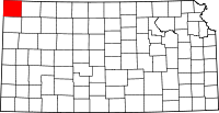 Map of Канзас highlighting Cheyenne County