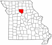Map of Missouri highlighting Chariton County.png