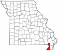 Map of Missouri highlighting Dunklin County.png