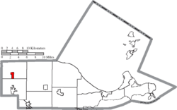 Location of Clay Center in Ottawa County