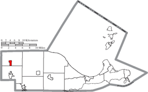 Clay Center, Ohio - Image: Map of Ottawa County Ohio Highlighting Clay Center Village