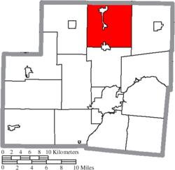 Lage der Gemeinde Dinsmore in Shelby County
