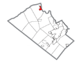 Map of Slatington, Lehigh County, Pennsylvania Highlighted.png