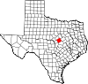 State map highlighting Coryell County