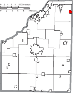 Location of Millbury in Wood County
