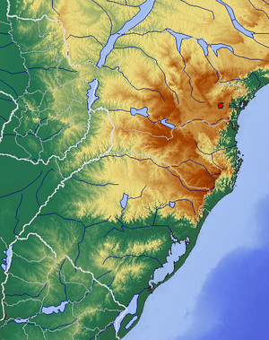 Serra Geral - Physical Map of Southern Brazil