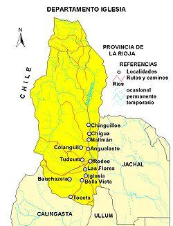 Mapa del departamento.