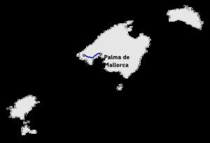 Mallorca Karte Sa Coma.Autopista Ma 1 Wikipedia