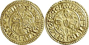 Sancho I of Portugal - Golden coin with the effigy of Sancho I