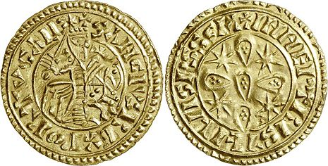 Morabitino - portugissische Goldmünze Sancho I.