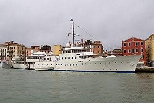 HMS Evadne - Yacht Marala in Venice in 2012