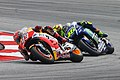 Marc Márquez and Valentino Rossi 2015 Sepang.jpeg