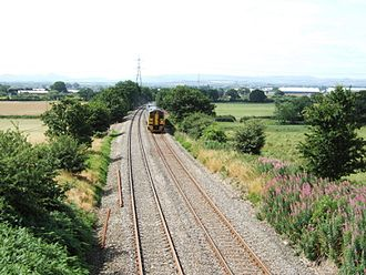 Welsh Marches line - Image: Marches Line Battlefield