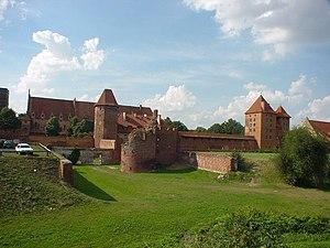 Malbork Castle - Vorburg with rampart added under Hochmeister Heinrich von Plauen, 15th century