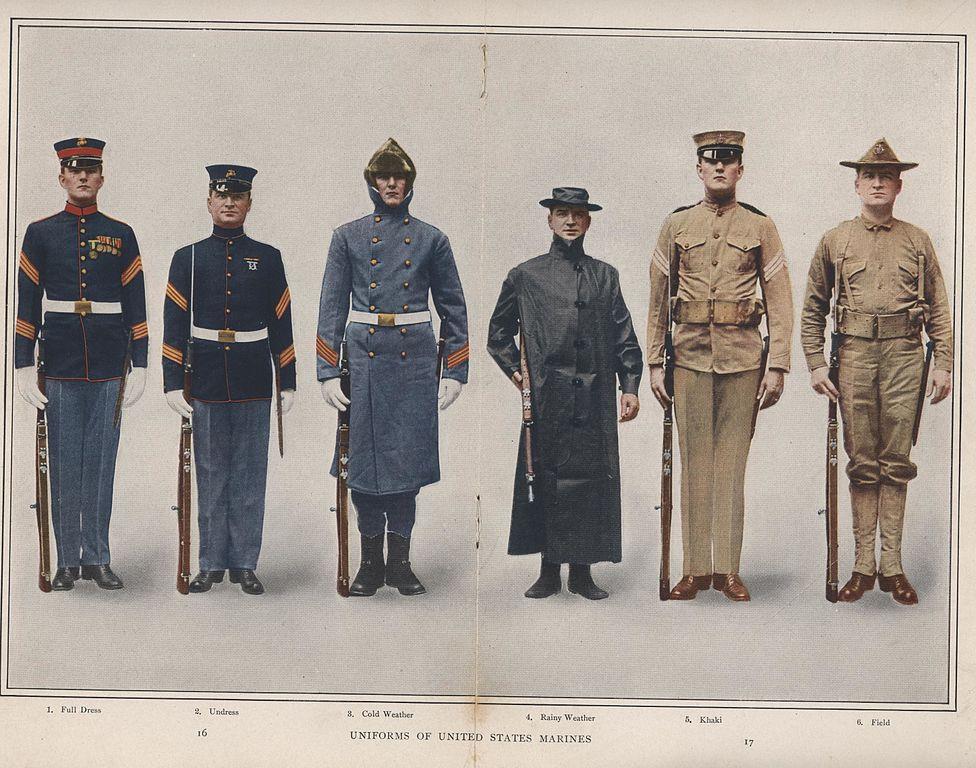 File:Marine Corps Uniforms, 1912 (7156011611).jpg ...