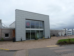 University of St Mark & St John - The main entrance to the campus in Derriford, Plymouth in April 2014