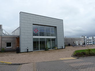 Plymouth Marjon University - The main entrance to the campus in Derriford, Plymouth in April 2014