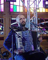 Marko Halanevych (DakhaBrakha) (Haldern Pop 2013) IMGP6602 smial wp.jpg