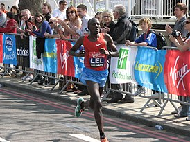 Martin Lel, London Marathon 2011.jpg