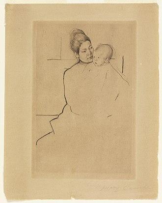 Gardner (Cassatt) Held by His Mother - Image: Mary Cassatt Gardner (Cassatt) Held by his Mother C HM 1898 6 29