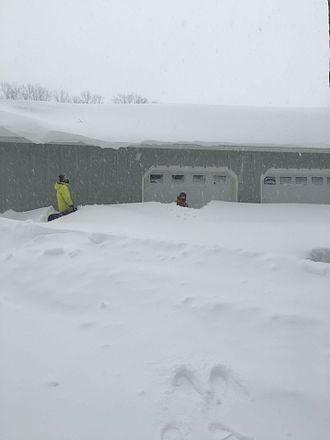 January 2016 United States blizzard - Five-foot snow drifts in Reading, Pennsylvania