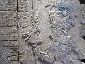 History of Mexico - Detail of a relief from Palenque, a Classic-era city. Maya script is the only known complete writing system of the pre-Columbian Americas and enabled the beginning of recorded history.