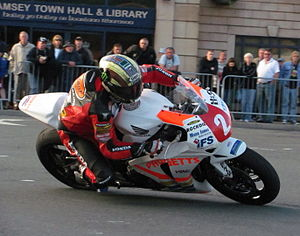 John McGuinness (motorcycle racer) - McGuinness during practice for the 2010 Isle of Man TT.