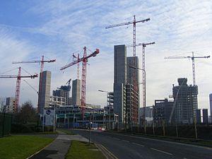 MediaCityUK - Construction activity, December 2008