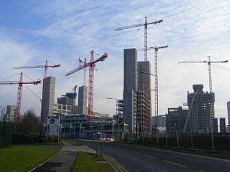 MediaCityUK - Construction activity, December 2008