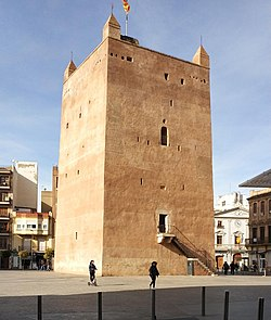 Moorish tower in the central square