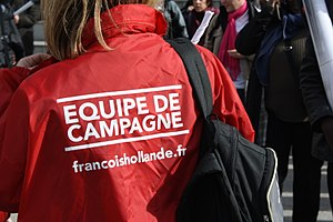 Avenir (typeface) - Avenir used by the election campaign of French president François Hollande.