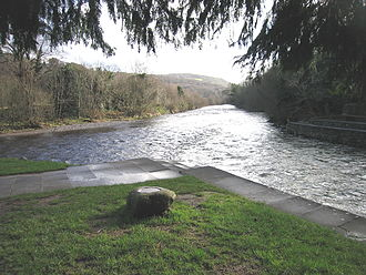 River Avoca - Avonmore left; Avonbeg right; Avoca ahead at the Meeting of the Waters.