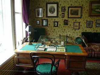 Melikhovo - Chekhov's study in the main house at Melikhovo