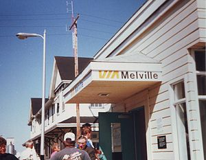 Melville, Saskatchewan - Via Rail railway station in Melville, circa 1991