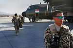 Members of the Singaporean armed forces prepare to board a C-130 Hercules aircraft June 22, 2013, at Multinational Base Tarin Kowt, Afghanistan 130622-A-FS372-163.jpg