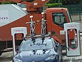 Mercure Beaune Centre - TESLA charing points - bikes on top of a TESLA car (34399575924).jpg