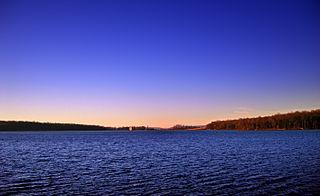 Merrill Creek Reservoir lake in New Jersey, United States