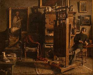 The Studio of the painter Jules Lambeaux