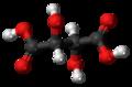 Mesotartaric acid 3D ball.png