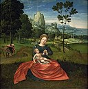 Mesteren for de kvindelige halvfigurer - The Rest on the Flight into Egypt - KMS1743 - Statens Museum for Kunst.jpg