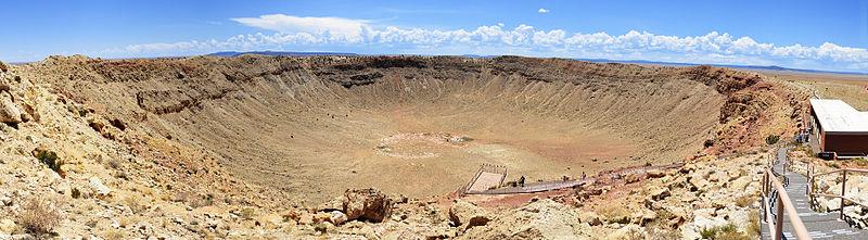 Meteor Crater Panorama near Winslow, Arizona