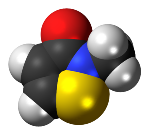 Methylisothiazolinone - Image: Methylisothiazolinon e 3D spacefill