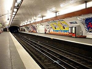 Rue Saint-Maur (Paris Métro) - Image: Metro de Paris Ligne 3 Rue Saint Maur 01